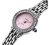 Women's Wrist watch Bracelet Watch Quartz Genuine Leather Band Sparkle Charm White Brand