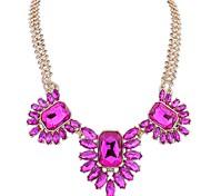 Pendant Necklaces Gemstone Glass Simulated Diamond Alloy Euramerican Fashion White Dark Blue Rose Red Dark Green Jewelry Casual Sports 1pc