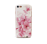 For Apple iPhone 7 7Plus 6S 6Plus Case Pink Flower Pattern TPU Material Painted Embossed Phone Case