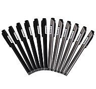 Black Gel Ink Pens 0.5MM 1 Set of 12PCS for Business