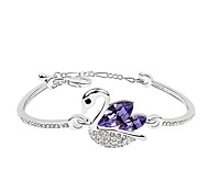 Women's Chain Bracelet Crystal Natural Fashion Crystal Alloy Round Animal Shape Swan Jewelry For Party Engagement Gift