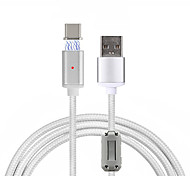Cwxuan® Magnetic Ring Anti-Interference Detachable Magnetic Adhesion Braided Charging Data Cable for USB-C Type-C Phone