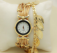 Bracelet Watch Quartz Leather Band Red Green Gold