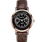 Men's Fashion Casual Simple Business Wristwatch Analog Quartz Leather Band Cool Watch Unique Watches For Men
