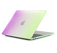 """Case for Macbook Pro 13""""/15"""" Color Gradient Plastic Material Clear Transparent Crystal Hard Case Protective Shell Rainbow"""