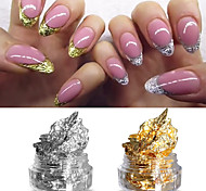 2 Box Gold and Silver Foil Manicure Nail Art decoration