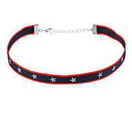 Choker Necklaces Fabric Jewelry Fashion Personalized Euramerican Simple Style Dark Blue Jewelry Daily Casual 1pc