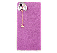For Huawei P8 P8 Lite Case Cover Flash Powder Series DIY Bow Tie Diamond Pendant TPU Material Phone Case