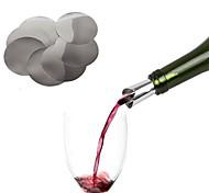 10Pcs Reusable Wine Pourers 10 Sheets Liquor Spirit Pourer Wine Whiskey Spout Free Flow Bottle Pourer Wine Disk Bar Supplies