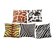 Set of 5 Animal pattern  Linen Pillow Case Bedroom Euro Pillow Covers 18x18 inches  Cushion cover