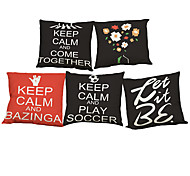 Set of 5 European and American style  Linen Pillow Case Bedroom Euro Pillow Covers 18x18 inches  Cushion cover