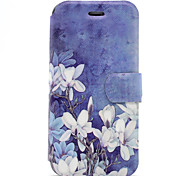 For Apple iPhone7 7 Plus Case Cover White Flowers Pattern HD Painted Voltage TPU Process PU Skin Phone Case