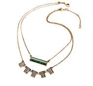 Women's Pendant Necklaces Geometric Chrome Unique Design Fashion Dark Green Jewelry For Wedding Congratulations 1pc