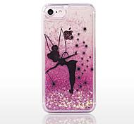 Назначение iPhone 8 iPhone 8 Plus Чехлы панели Движущаяся жидкость Прозрачный Задняя крышка Кейс для Сияние и блеск Твердый PC для Apple