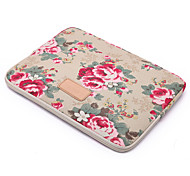 "Sleeve for Macbook 13"" Macbook Air 11""/13"" Macbook Pro 13""/15"" MacBook Pro 13""/15"" with Retina display Flower Canvas Material Big Red Flower"