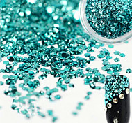 1 Bottle Sweet Style Beautiful Lake Blue Nail Art Glitter Water Droplet Paillette Decoration Shiny Clear Nail DIY Decoration Nail Beauty Design D01
