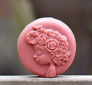 Quiet Girl Shape Soap Mold DIY Silicone Soap Mold Handmade Soap Salt Carved DIY Silicone Food Grade Silicone Mold