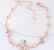 Chain Bracelet Alloy Rhinestone Swan Fashion Women's Jewelry 1pc