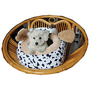 Cat Dog Bed Pet Bed Cartoon Cow Black