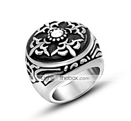 Vintage Europe decorative pattern ring restoning ancient stylish trendsetter finger ring personality Antique Silver Jewelry