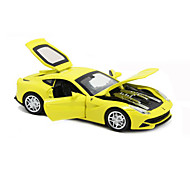 Race Car Pull Back Vehicles Car Toys 1:32 Metal Green Yellow Model & Building Toy