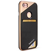 Назначение iPhone 8 iPhone 8 Plus Чехлы панели Бумажник для карт Защита от удара Задняя крышка Кейс для броня Твердый PC для Apple iPhone