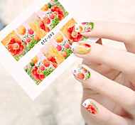 10pcs/set Sweet Style Nail Art Water Transfer Decals Beautiful Flower Design Beautiful Flower Nail Beauty Sticker STZ-093