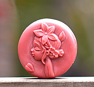 Smile Girl Shape Soap Mold DIY Silicone Soap Mold Handmade Soap Salt Carved DIY Silicone Food Grade Silicone Mold