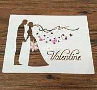 выпечке Mold Цветы Для торта Для Pie Пластик Антипригарное покрытие Экологичность День Святого Валентина Сделай-сам