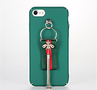 For DIY Pendant Case Back Cover Case Solid Color Hard PC for Apple iPhone 7 Plus iPhone 7 iPhone 6s Plus iPhone 6 Plus iPhone 6s iPhone 6