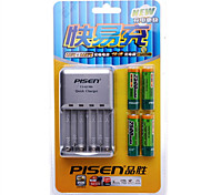 PISEN AA Nickel Metal Hydride Rechargeable Battery 1.2V 2500mAh 4 Pack