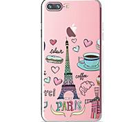Для Прозрачный С узором Кейс для Задняя крышка Кейс для Продукты питания Эйфелева башня Мягкий TPU для AppleiPhone 7 Plus iPhone 7 iPhone
