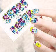10pcs/set Colorful Flower Design Nail Art Sticker Nail Beauty Water Transfer Decals STZ-109