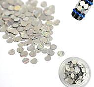 1 Bottle 3mm Fashion Laser Glitter Stripe Round Paillette Nail Art Glitter Decoration DIY Nail Shiny Clear Thin Slice Beauty Tips TW03