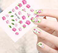 10pcs/set Hot Sale Summer Style Nail Art Water Transfer Decals Beautiful Pink Flower Design Nail DIY Beauty Decals Manicure Beauty Sticker  STZ-052