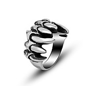 Cool Stainless Steel Jewelry Rock Punk Ring Mens Ghost Paw Rings Black Silver Tattoo Biker Accessories