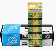 TMI AG3 Coin & Button Cell Cardon Zinc Battery 1.55V 10 Pack