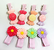 Hot sell fashion cute pet grooming dogs and cats wearing plastic hairpin hairpin variety of colors randomly send