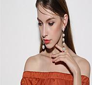 Dangle Earrings Imitation Pearl Dangling Style Pendant Imitation Pearl Euramerican Fashion Personalized Imitation Pearl Circle Jewelry For