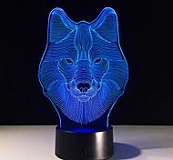 Animal Wolf Decor 3D LED Nightlights Colorful Wolf Design Table Lamp teen wolf Illusion Lights Bedroom Modern Decor