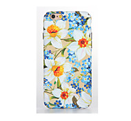 For Glow in the Dark Embossed Pattern Case Back Cover Case Flower Soft TPU for Apple iPhone 7 Plus iPhone 7 iPhone 6s Plus/6 Plus iPhone