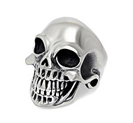 Classic Mirror Surface Texture Punk Skull Jewelry for Men Biker Accessories Mens Motorcycle Club Silver With Black Color