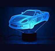 Рождественский автомобиль сенсорный затемнения 3d привело ночник 7colorful украшения атмосферу лампа новинка освещение рождественский свет