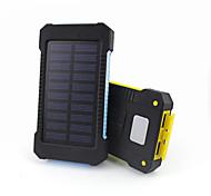 10000mAhbanco do poder de bateria externa Recarga com Energia Solar Output Múltiplo Lanterna Impermeável 10000 3100Recarga com Energia