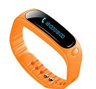 E02 Смарт-браслетЗащита от влаги Длительное время ожидания Израсходовано калорий Педометры Спорт Пульсомер будильник Сенсорный экран GPS