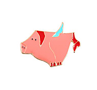 Fachina Cute Flying Pig Enamel Brooch