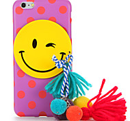 For IMD Frosted Case Spot Smiling Face Colour Ball Tassel DIY Back Cover Case Soft TPU for Apple iPhone 7 7 Plus 6s 6 Plus