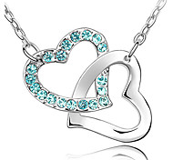 Women's Pendant Necklaces Crystal Heart Chrome Unique Design Personalized Jewelry For Anniversary Congratulations Gift 1pc