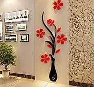 Рождество Романтика Цветы Наклейки 3D наклейки Декоративные наклейки на стены,Винил материал Украшение дома Наклейка на стену