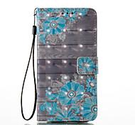 Samsung galaxy a5 (2017) a3 (2017) 3d эффект цветочный узор pu материал кошелек раздел телефон кейс для a510 a310